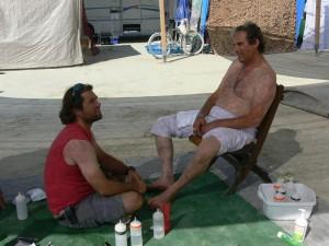 Burning Man Foot Washing