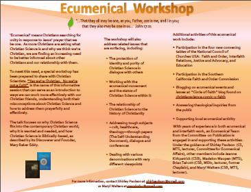 Ecumenical flyer